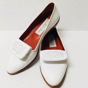 Vintage Joan & David leather tab loafer shoes 8